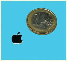 Apple metalissed Chrome effect sticker logotipo pegatinas 8x10mm [001]