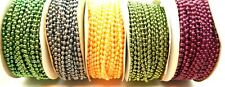3Mm Faux Pearl Plastic Beads on a String Craft Roll 24 yards Choose Color #Bor05