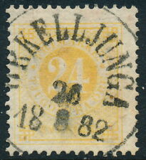 Sweden Scott 34/Facit 34e, 24ö yellow Ringtyp p.13, F U ÖRkelljunga cancel, Lyx