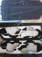 musical instruments case ,Pretty Black 4 case for 2pcs violins and 2pcs viola