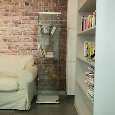Modern Curio Cabinet Glass Display Case Furniture Showcase Storage Shelves