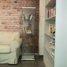 Modern Curio Cabinet Glass Display Case Furniture Showcase Storage Shelves