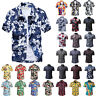 US Mens Short Sleeve Hawaiian Shirt Summer Casual Beach Holiday Floral Slim Tops