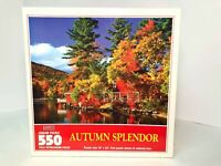 Hoyle 550 Piece Jigsaw Puzzle Autumn Splendor 1997 Made in USA Unopened Sealed