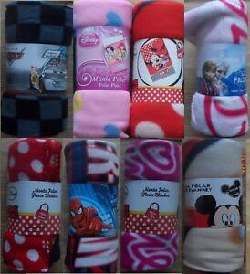 Disney Polar Fleece 150cm X 100cm Blanket, Frozen, Princess, Minnie Mouse, Cars