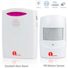 1byone 500ft Home Security Wireless Driveway Alarm Door Bell Motion Sensor Chime