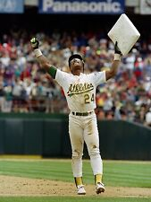 RICKEY HENDERSON 8X10 PHOTO OAKLAND ATHLETICS A's MLB BASEBALL PICTURE RECORD BK