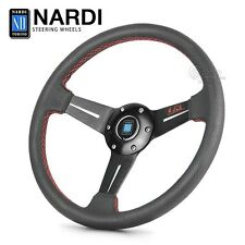 New 320mm Nardi Torino Style Black Leather Red Stitches Dished Steering Wheel