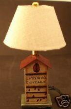 Dollhouse Miniature Lady bug Cottage Lamp