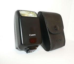 COMPACT CANON SPEEDLITE 160E for CANON EOS FILM SLRs, CASED, CLEAN, NOT DIGITAL