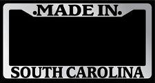 "Chrome License Plate Frame ""Made in South Carolina"" Auto Accessory Novelty"