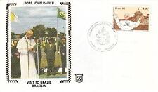 1980 POPE JOHN PAUL II BRASILIA BRAZIL VISIT POST COVER