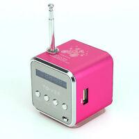 1 Mini Lautsprecher LCD Stereo Speaker Musik Player Mp3 FM Radio USB Micro SD TF