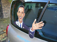WAVING BARACK OBAMA PRESIDENT OF THE USA WIPER STICKER FOR THE BACK OF YOUR CAR