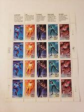 1993 Winter Olympics Stamp Sheet of 20 USA #2807-2811 29 Cent MNH