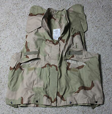 US Military PASGT Flak Vest Cover Desert Camo Size Small - Medium 3 Color