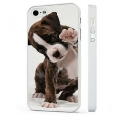 Cute Boxer Puppy Playful WHITE PHONE CASE COVER fits iPHONE