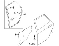Genuine Subaru Left Hand Rear Door Seal MY08-13 WRX/STI (63512FG010)