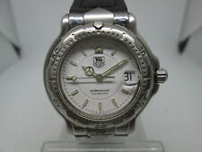 VINTAGE TAG HEUER 6000 SERIES STAINLESS STEEL QUARTZ MIDSIZE MENS WATCH