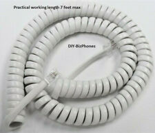 Generic Bright White 12 Ft Handset Cord Landline Phone Curly Coil 4p4c New In Ba
