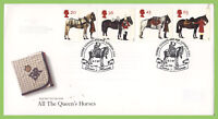 G.B. 1997 Queens Horses set on Royal Mail First Day Cover, Horse Guards London S