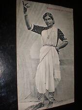 Old postcard Nauch Dancing Girl Colombo Sri Lanka c1900s