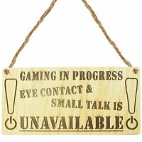Oak Gaming Novelty Door Sign Gamer Gifts Accessories Birthday Gift Brother Son