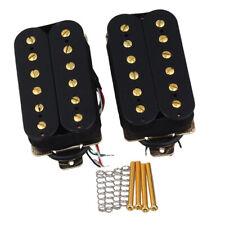E-Gitarre Humbucker Doppelspule Tonabnehmerrahmen Schrauben Federn Silber