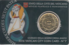 Vaticano 2016 0.50 ? euro Monete Coin Card nº 7 Monete  Giubileo Misericordia MM