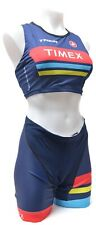 Castelli Timex Trek Sleeveless Triathlon Kit Women M/L Singlet + Shorts Ironman