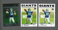 2004 Topps Eli Manning RC #350 New York Giants TRUE RC + 2010 & 2012 CHROME RP