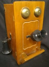 Unique replica of Antique Hand Crank Wood Wall Telephone wall hidden shelf box