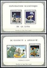 247/SPACE RAUMFAHRT 1970 Tschad Chad Apollo 291-94 Deluxe Blocks (2) ** MNH
