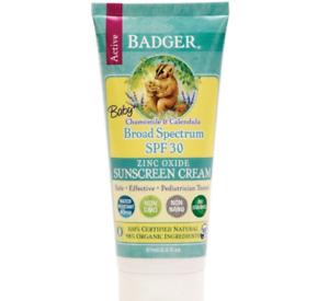 Badger Baby Chamomile Broad Spectrum SPF 30 Zinc Oxide Sunscreen 2.9 fl oz
