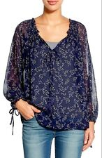 NWT AUTHENTIC  LUCKY BRAND $89.50 Tossed Flower Peasant Top 2X
