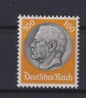 DR 495 Hindenburg 100 Pfg. Wz Waffeln postfrisch geprüft (kt107)