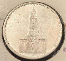 German 1935A 5 Mark Silver Coin