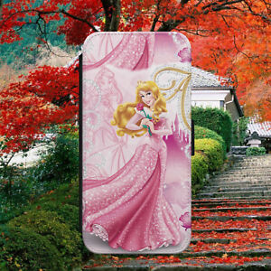 PRINCESS AURORA BEAUTY FLIP WALLET PHONE CASE COVER FOR IPHONE/SAMSUNG/HUAWEI