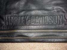Harley Davidson Deluxe Black Leather Chaps, Size Large Adjustable, Embossed Logo