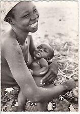 CARTE POSTALE AFRIQUE PIN UP FEMME NU NUE BOSSANGOA