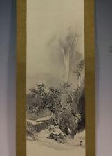JAPANESE PAINTING LANDSCAPE HANGING SCROLL JAPAN ANTIQUE PICTURE Art 313p
