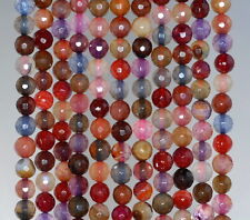 """6MM FIREWORKS CRACKLE AGATE GEMSTONE GALA MULTI FACETED ROUND LOOSE BEADS 14.5"""""""