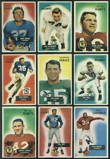 (12043) 1955 Bowman Football Near complete set Blanda Gifford Summerall Ringo HC