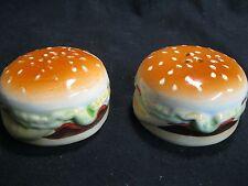 Fully Loaded Cheeseburger Lettuce Tomato Salt and Pepper Shakers Ceramic      40