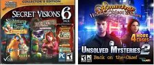 Secret Visions 6 Pack Collectors & Amazing Hidden Object Unsolved Mysteries 2