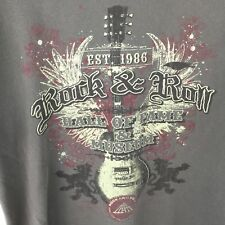 Rock And Roll Hall Of Fame All Inductees 1986-2010 Gray Large Men's Tee Shirt