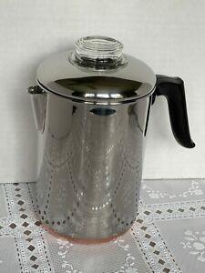 Revere Ware Stove Top Percolator Camp Coffee Pot 8 Cups Super Clean