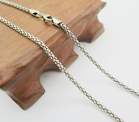 Pure 925 Sterling Silver Necklace 2.5mm Popcorn Link Chain Necklace 50cm to 75cm