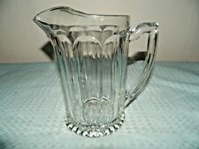 Elegant Clear Glass Ice Lip Pitcher Unmarked Heisey?