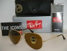 New Mens Sunglasses Ray-Ban RB3025 58mm 001/33 Aviator Gold/Brown B-15 lens